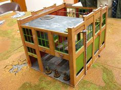 Chicago Skirmish Wargames: How to turn a model railroad building into wargame scenery