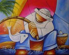 Resultado de imagem para pintura de pescador