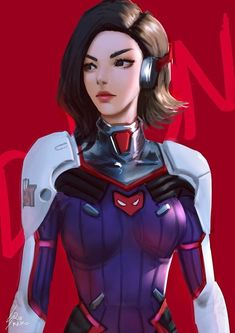 Drawing Superhero D.Mon by Raiko Art .Russians love her more than D. The reason is simple – memes :D Ghost Comic, Comic Art, Video Game Art, Video Games, Russian Love, Video Game Addiction, Overwatch Fan Art, Fanart Overwatch, Best Hero