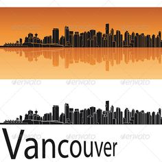 Vancouver Skyline in Orange Background  #GraphicRiver         Vancouver skyline in orange background in editable vector file     Created: 24April13 GraphicsFilesIncluded: LayeredPNG #JPGImage #VectorEPS Layered: No MinimumAdobeCSVersion: CS Tags: architecture