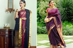 Need a Sari For A Wedding? These 10 Brands Will Stun With Their Collections Photo source: Little Black Book Delhi Indian Wedding Sari, Elegant Saree, Little Black Books, Indian Sarees, Fashion Design, Collections, Shopping, Indian Saris