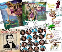 Tangled party printables!!