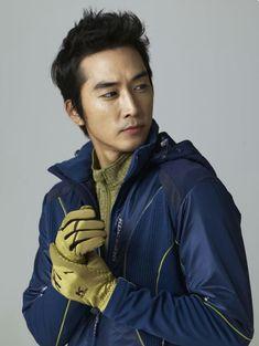 song seung heon -- Ad Shoot for Kolping Jung So Min, Kim Min, Song Seung Heon, Asian Celebrities, Celebs, Love Of A Lifetime, Handsome Korean Actors, Asian Love, Outdoor Wear