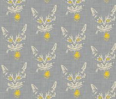 henry_in_gray_linen fabric by holli_zollinger on Spoonflower - custom fabric