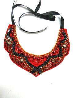 Bib collar necklace India Morocco inspired by AniDandelion.deviantart.com on @deviantART