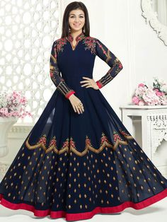 Anarkali Suits are one of the most favored Indian traditional dresses. Anarkali Dress, Anarkali Suits, Lehenga, Long Anarkali, Saree, Indian Dresses, Indian Outfits, Indian Clothes, Ethnic Fashion