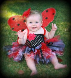 NEW Black and Red Lady Bug Tutu Costume Birthday by 4AngelBabies, $39.75