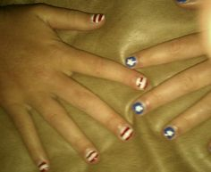 My 4th of July nails!
