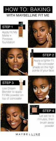 Make Up Tutorial Contouring, Makeup Tutorial Foundation, No Foundation Makeup, Flawless Foundation, Highlighter Makeup, Contour Makeup, Face Makeup, Face Contouring, Hair
