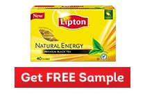 FREE Sample Alert: Lipton Natural Energey Black Tea (AND $1/2 Lipton Tea Coupon)