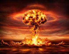 Nuclear Explosion With Orange Mushroom Cloud Nagasaki, Hiroshima, Bomba Nuclear, Orange Mushroom, Mushroom Cloud, Nuclear Bomb, Nuclear War, Chernobyl, Doomsday Clock