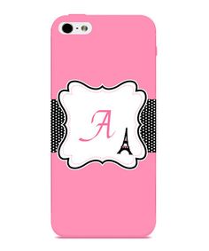 Take a look at this Pink French Initial Case for iPhone 5 by Secretly Savvy on #zulily today!