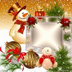 Christmas is hereBy Maria Elena Lopez Merry Christmas Photo Frame, Merry Christmas In Heaven, Christmas Frames, Christmas Pictures, Christmas Snowman, Christmas Greetings, Christmas Holidays, Christmas Wreaths, Christmas Cards