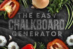 Chalkboard Generator by Greg Nicholls on @creativemarket
