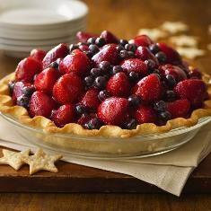 Here's To The Red, White & Blue Pie (via http://www.foodily.com/r/WVR8E3U49E-heres-to-the-red-white-blue-pie-by-betty-crocker)