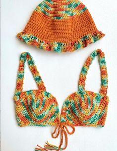 Crochet Bikini Bottoms, Crochet Fashion, I Fall In Love, Bikinis, Swimwear, Knitting, Sweaters, Feels, Random