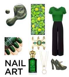 """""""Green nails"""" by marinarey11 ❤ liked on Polyvore featuring beauty, Miss Selfridge, L'Autre Chose, Clive Christian, Kate Spade, Illamasqua and NOVICA"""