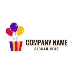 Colorful Balloon and Gradient Box logo design Custom Logo Design, Custom Logos, Happy Birthday Logo, Colourful Balloons, Colorful, Balloon Logo, Online Logo, How To Make Logo, Box Logo