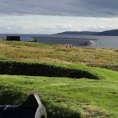 Vardøhus Fortress and the Steilneset Memorial in Vardø, Norway