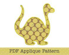 Dinosaur Applique Template, Animal, DIY, Children, PDF Pattern by Angel Lea Designs. $2.30, via Etsy.