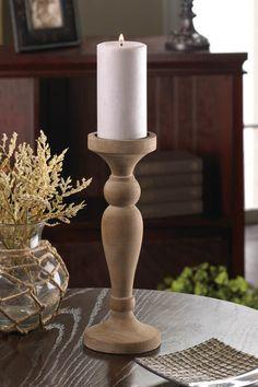 Artisan Wooden Candleholder