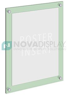 sandwich acrylic poster display kits u2013 frameless graphic panels are designed for displaying posters prints