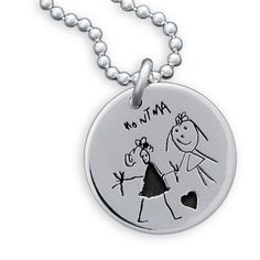 a mother's necklace I actually like: turn your child's drawing into a pendant