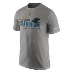 Carolina Panthers Nike 2015 NFC Conference Champions Trophy Collection  Locker Room T-Shirt Charcoal 86049b7ef