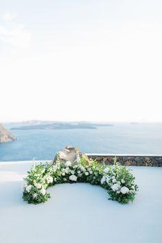For this Bride and Groom, Santorini beckoned. Mod Wedding, Elope Wedding, Floral Wedding, Elopement Wedding, Wedding Bells, Santorini Wedding, Greece Wedding, Honolulu Wedding, Destination Wedding Welcome Bag