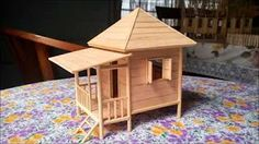 How To Make A Popsicle Stick House   Simple Tutorial   YouTube