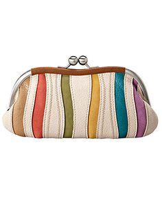 Fossil Handbag, Ruby Frame Pouch in Stripe - $50.00