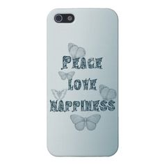 Peace Love Happiness iPhone 5 Covers