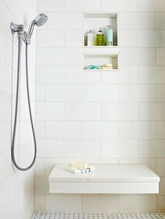 Start your morning routine on the right foot with the perfect shower experience. A handheld or sliding bar showerhead is easy to adjust for different heights, from tall adults to small children -- and pets, too. /
