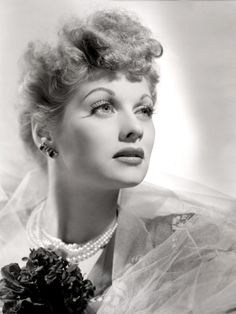 Lucille Ball Portrait with Gauze, 1940's