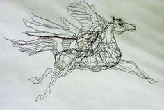 wire Pegasus by Elizabeth Berrien