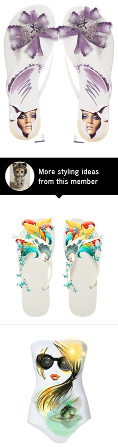 """""""Decorate Your Flip Flops"""" by kari-c on Polyvore featuring art"""