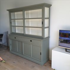 Interior, Home, Beautiful Furniture, Painted Furniture Cabinets, Interior Design Trends, Living Room Interior, House Interior, Glass Cabinet Doors, Home And Living
