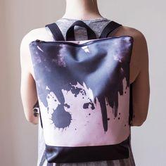 Pink Backpack - Watercolor