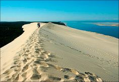 Photo compilation of the Great Dune of Pyla. The tallest sand dune in Europe. It is located in the Arcachon Bay area in France. Aquitaine, The Places Youll Go, Places To See, The Dunes, Travel Memories, France Travel, Natural Wonders, Strand, Beautiful Places