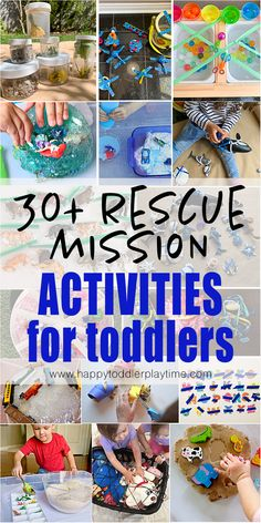 Check out this list of 30 super fun and easy rescue mission activities for toddlers. From rescuing musical instruments, nature to mermaids and dinosaurs! Toddler Fine Motor Activities, Sensory Activities, Hands On Activities, Infant Activities, Family Activities, Toddler Play, Toddler Preschool, Toddler Crafts, Curious Kids