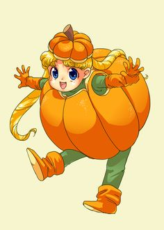 pumpkin usagi sailor moon halloweenanime