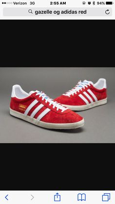 hot sale online 06b3b 678c9 Outlet Adidas Originals Gazelle OG - Red   White   Chalk,Quality Sneakers  are worthy for you own it .