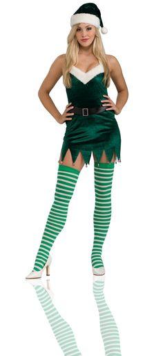 Sassy Elf Christmas Costume Women's Small