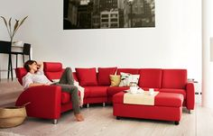 Charming Red Sofas for Gorgeous Living Room: Stunning Modern Style Minimalist Touch Red Sofas Living Room Furniture