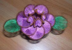 Ganutell – technika výroby kvetov z drôtu a nití a korálikov - Ostatné - Majstrovanie   Hobby portál Gold Work, Beads, Create, Rings, Needlework, Image Search, Jewelry, Embroidery, Sewing