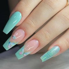 Acrylic Nails Coffin Short, Fall Acrylic Nails, Spring Nails, Summer Nails, School Nails, Baby Boomer, French Tip Nails, Nail Art Hacks, Stylish Nails