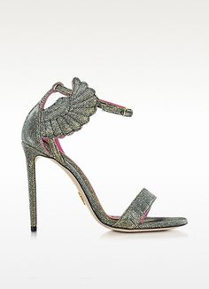 Malikah Black and Gold Fabric Sandal - Oscar Tiye