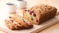 One of our favorites, this quick bread boasts cranberries and coarsely chopped nuts. What a flavor combination! Cranberry Orange Bread, Cranberry Sauce, Recipe Filing, Quick Bread Recipes, Fall Baking, Sweet Bread, Cobbler, Fudge, Baked Goods