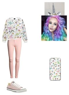 """Unicorns"" by calm-hich-psych ❤ liked on Polyvore featuring Converse"