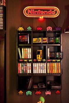 Konami shelf.